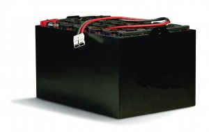 48 volt black rejuvenated forklift traction battery