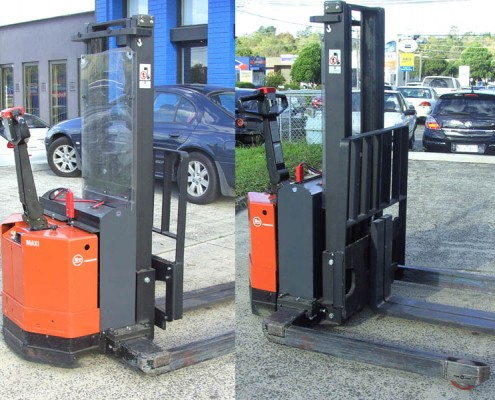 BT Raymond 1-greyscale.2 Tonne Secondhand Used Walkie Stacker Forklift