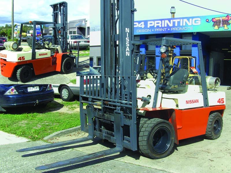 Nissan 4.5 LPG Tonne Secondhand Used Forklift for Sale